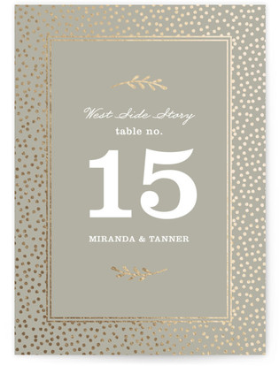 Gilded Branches Foil-pressed Table Numbers