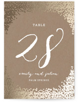 Gold Rush Foil-Pressed Wedding Table Numbers