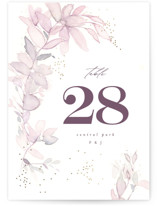 This is a purple table number by Phrosne Ras called side romance with foil-pressed printing on signature in standard.