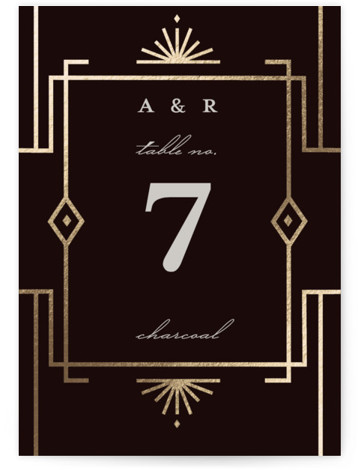Social Distancing Foil-Pressed Table Numbers