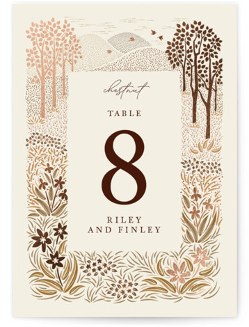 In the country Foil-Pressed Table Numbers