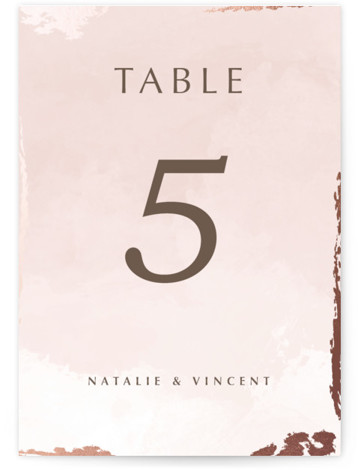Watercolor Sunset Foil-Pressed Table Numbers