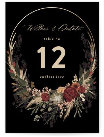 Botanical Edge Foil-Pressed Table Numbers