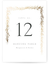 This is a white table number by chocomocacino called kawaguchi with foil-pressed printing on signature in standard.