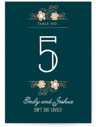 Country Florals Foil-pressed Table Numbers