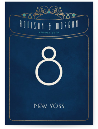 Ornate Deco Foil-pressed Table Numbers