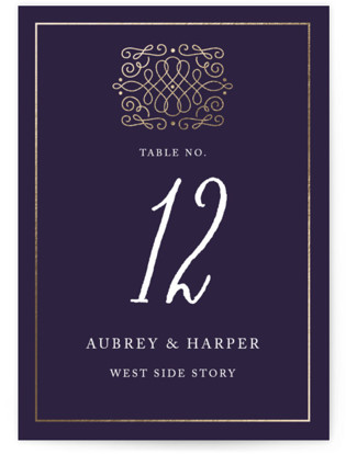 Opera Foil-pressed Table Numbers