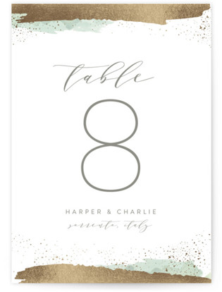 Tide Foil-pressed Table Numbers