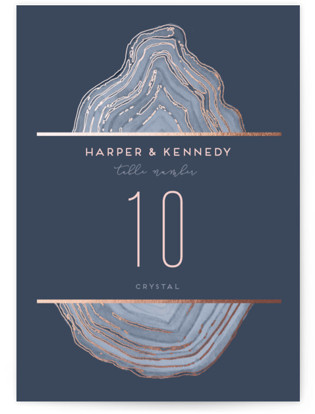 Modern Agate Foil-pressed Table Numbers
