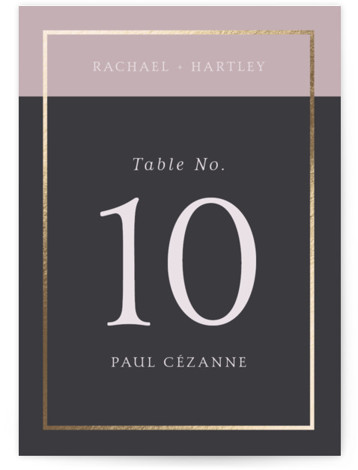 Mod Block Foil-Pressed Table Numbers