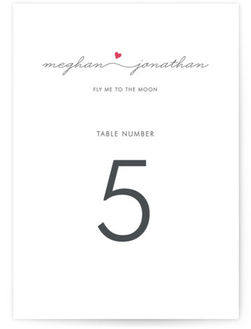 This is a portrait modern, simple, pink Table Numbers by Kim Dietrich Elam called Love Connection with Standard printing on Luxe Museum Board in Classic Flat Card format. Table numbers come in a flat or folded format. Select from our ...