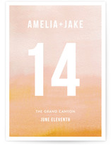 Ombre Wedding Table Numbers