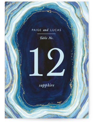 Gilt Agate Table Numbers