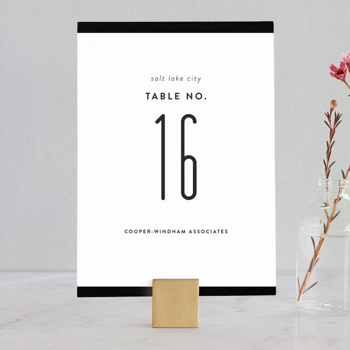 """""""Black Tie"""" - Classical, Simple Wedding Table Numbers in Bowtie by Jessica Williams."""