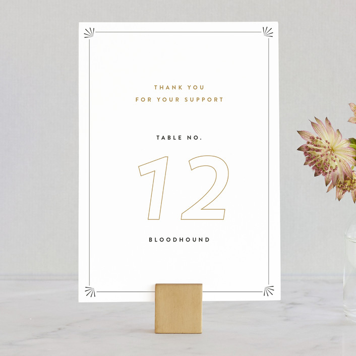 """""""EnBanque"""" - Vintage Wedding Table Numbers in Tuxedo by Up Up Creative."""