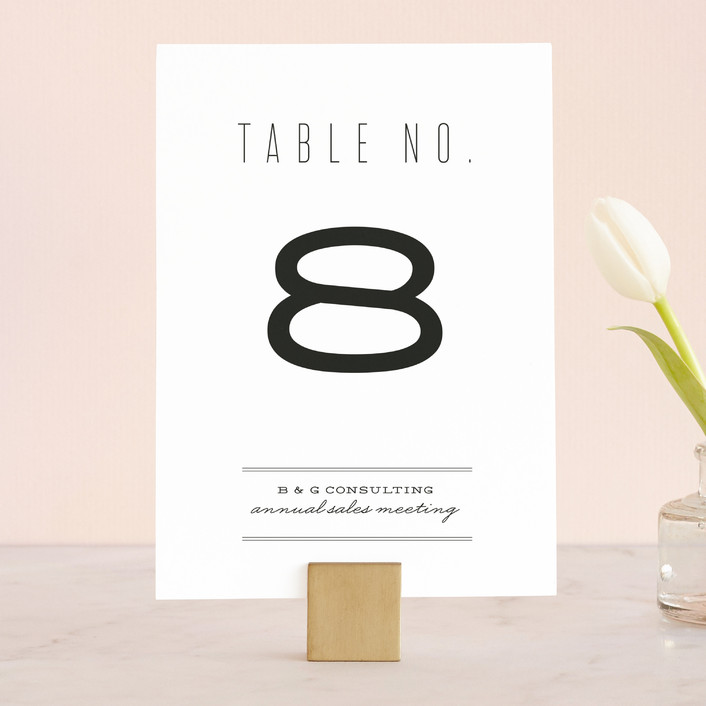 """Mixed Type"" - Bold typographic Wedding Table Numbers in Pearl by Erica Krystek."