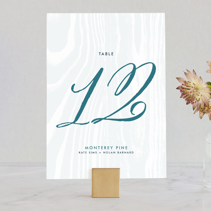 """""""Big Sur"""" - Rustic, Bold typographic Wedding Table Numbers in Weathered Oak by Annie Clark."""