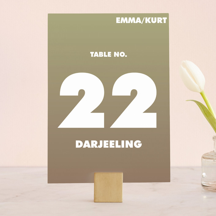 """""""Charge Ahead"""" - Modern Wedding Table Numbers in Antiqued White by Rouge Bicyclette."""