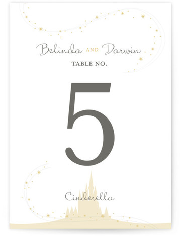 This is a portrait whimsical, yellow Table Numbers by Jody Wody called Enchanted Stars with Standard printing on Luxe Museum Board in Classic Flat Card format. Table numbers come in a flat or folded format. Select from our Signature, Premium ...