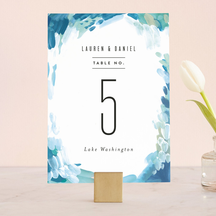 """Gallery Abstract Art"" - Wedding Table Numbers in Ocean by Alethea and Ruth."