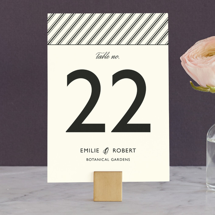 """""""Moments Captured"""" - Simple Wedding Table Numbers in Ivory by Carrie Eckert."""
