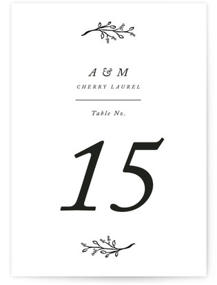 Storybook Romance Table Numbers