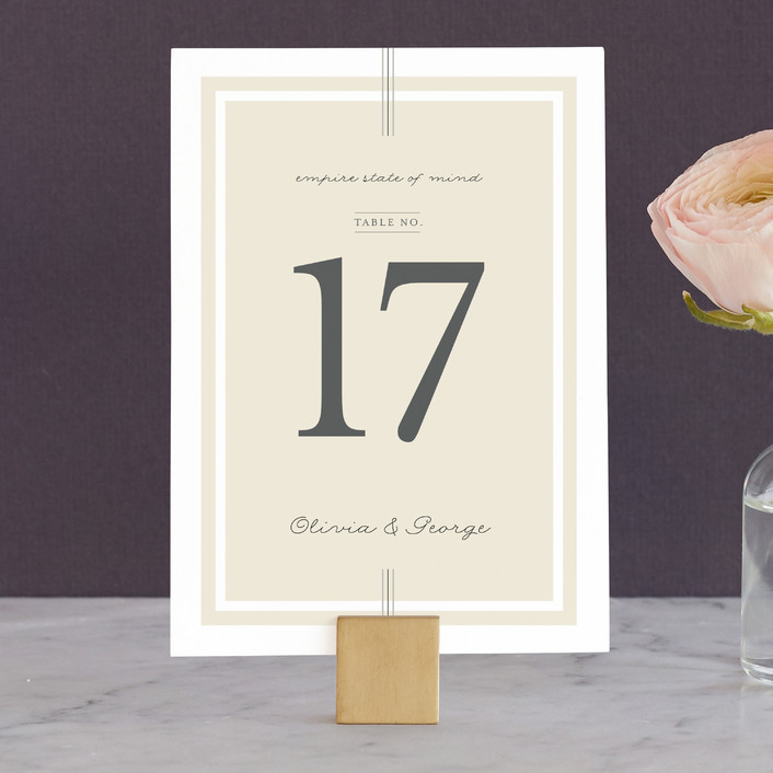 """Three Classic Lines"" - Formal, Classical Wedding Table Numbers in Barley by fatfatin."