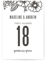 Modern Botanicals Wedding Table Numbers