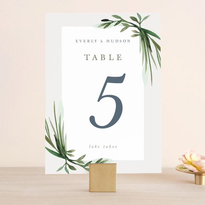 """Botanical Frame"" - Wedding Table Numbers in Fern by Kate Ahn."