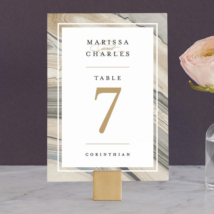 """""""Elegant Marble"""" - Bohemian Wedding Table Numbers in Marble by Liz Conley."""