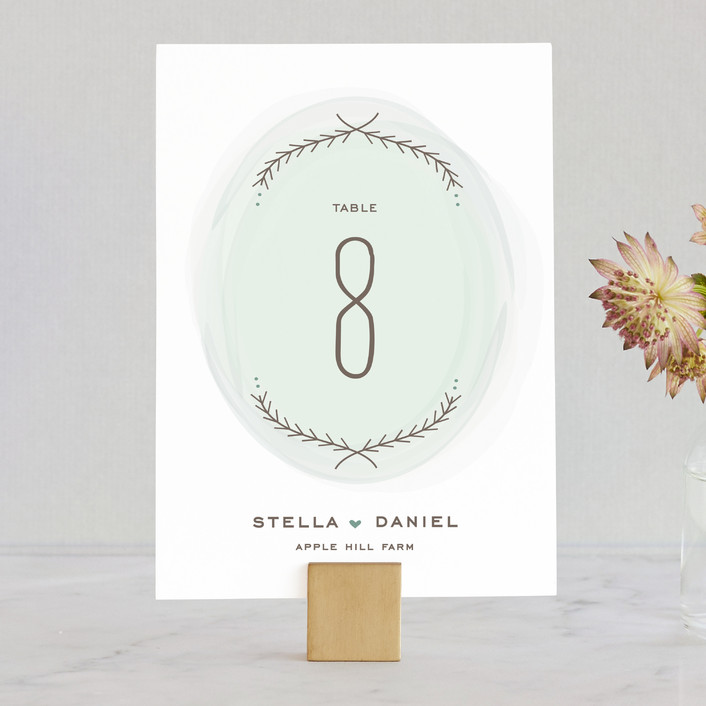 """""""Romantic Whisper"""" - Whimsical & Funny, Rustic Wedding Table Numbers in Sky by Jennifer Postorino."""