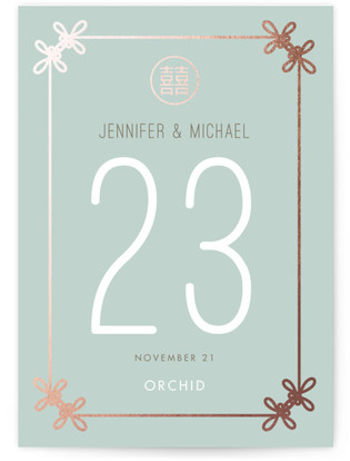Double Knotted Happiness Table Numbers