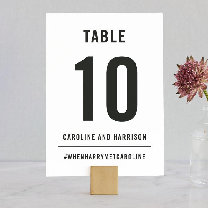 """""""Open Bar"""" - Wedding Table Numbers in Tuxedo by Jennifer Lew."""