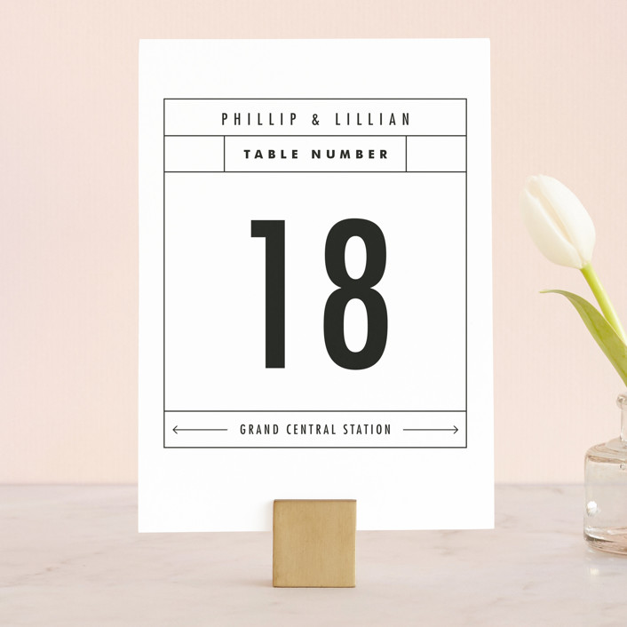 """Between The Lines"" - Wedding Table Numbers in Blazer by Fine and Dandy Paperie."
