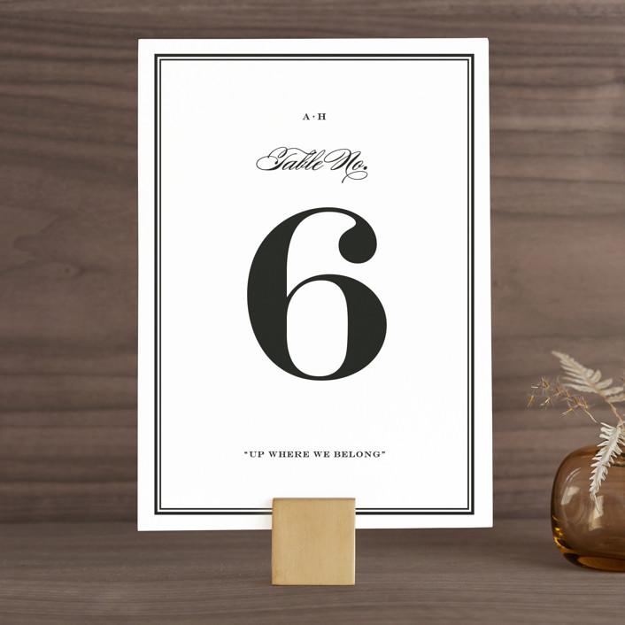 """""""Field"""" - Simple, Elegant Wedding Table Numbers in Ash by Toast & Laurel."""