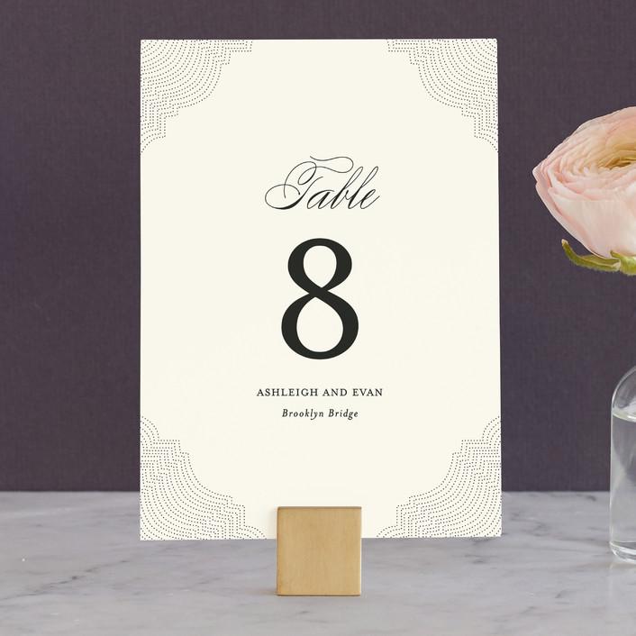 """Splendorous"" - Classical, Elegant Wedding Table Numbers in Cream by Design Lotus."