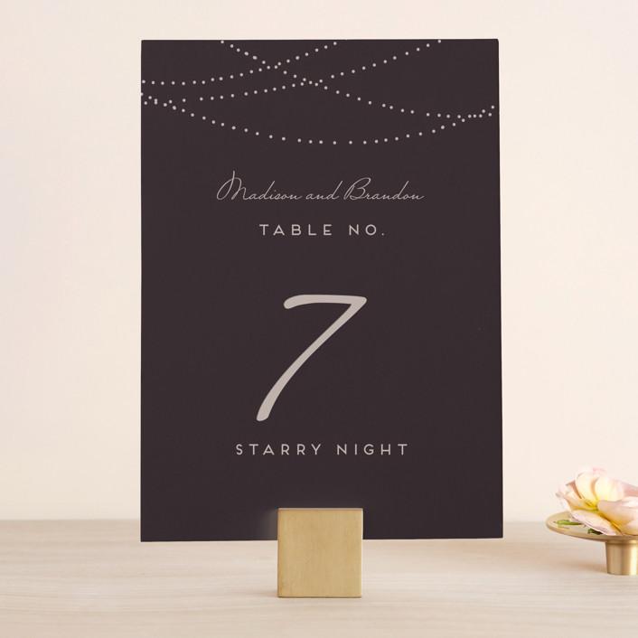 """""""Lavish"""" - Formal, Elegant Wedding Table Numbers in Chalkboard by Design Lotus."""
