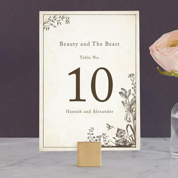"""Story Book"" - Vintage Wedding Table Numbers in Winter Cream by Jody Wody."
