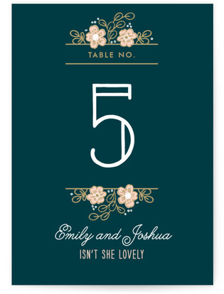 Country Florals Table Numbers