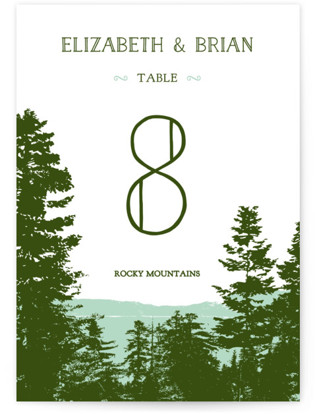 Mountain View Table Numbers