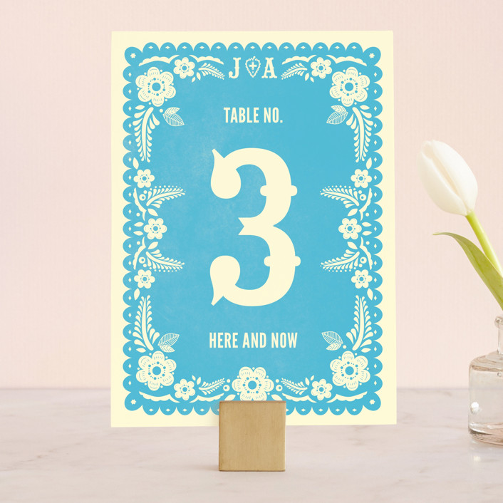 Papel Picado Wedding Table Numbers By Andres Montaño | Minted