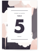 This is a purple table number by Brooke Chandler called Artistic Union with standard printing on doublethick in standard.