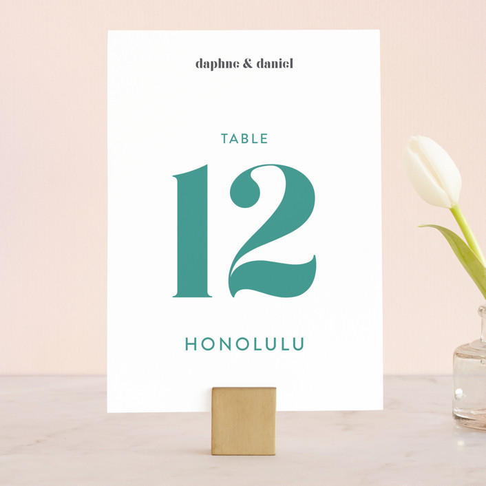 """Modern Muse"" - Wedding Table Numbers in Bright by Rebecca Daublin."