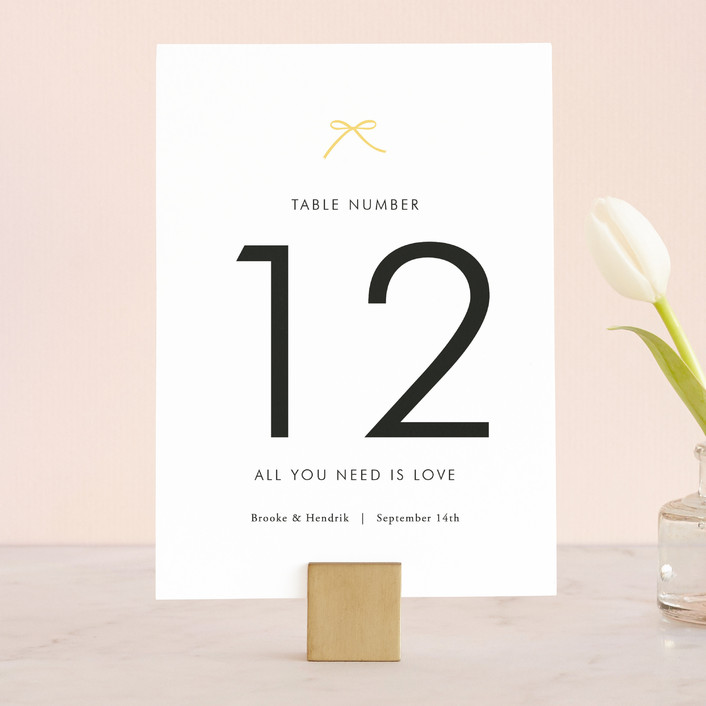 """Sweet Boutique"" - Simple Wedding Table Numbers in Sunny Day by Design Lotus."