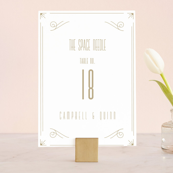 """Elegantly Modern"" - Vintage Wedding Table Numbers in Navy by Robinson Paperie."