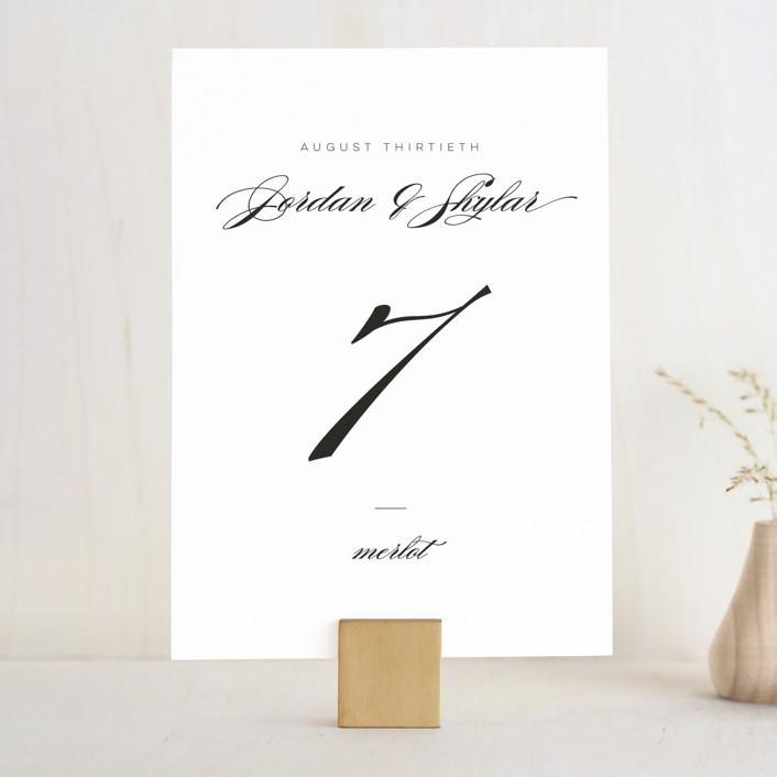 """Waltz"" - Wedding Table Numbers in Tuxedo by Lori Wemple."