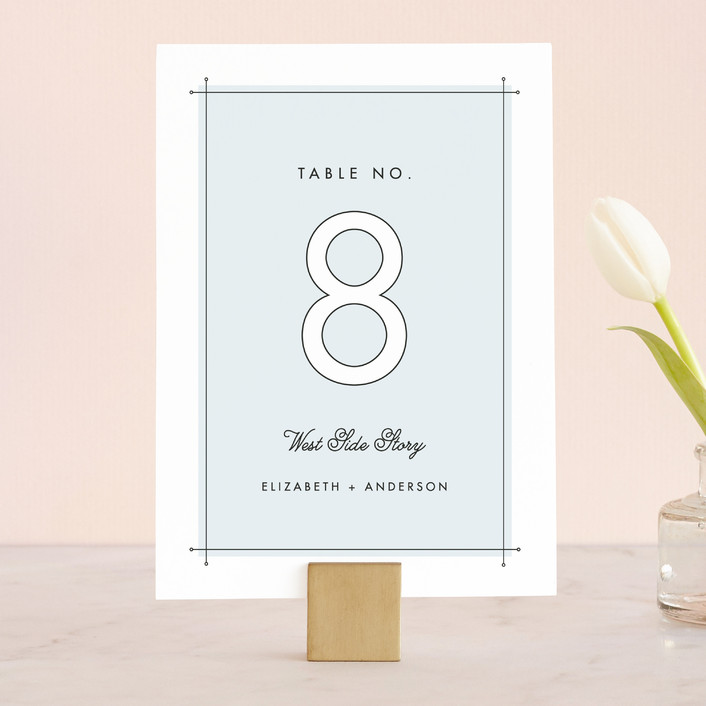 """Me & You"" - Modern Wedding Table Numbers in Sky by Lauren Chism."