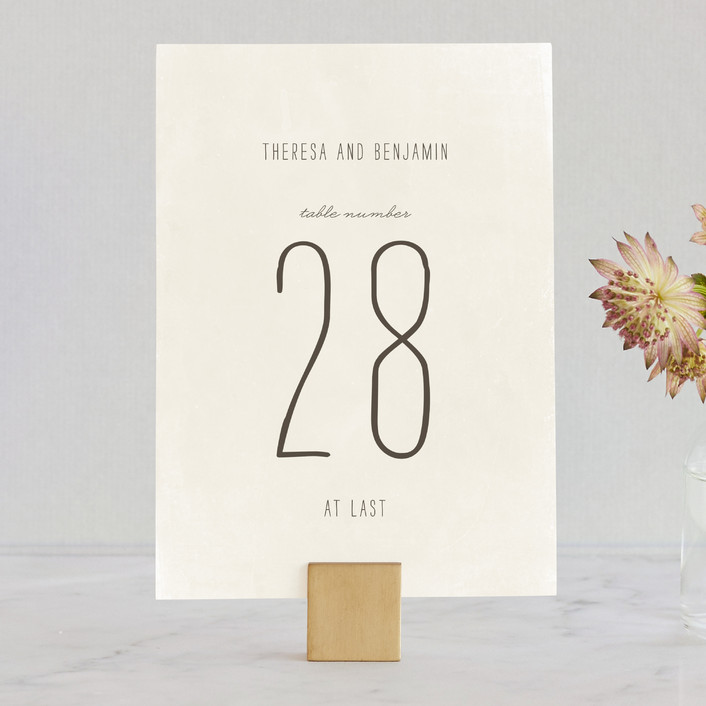 """""""Moment in Time"""" - Vintage Wedding Table Numbers in Linen by The Social Type."""