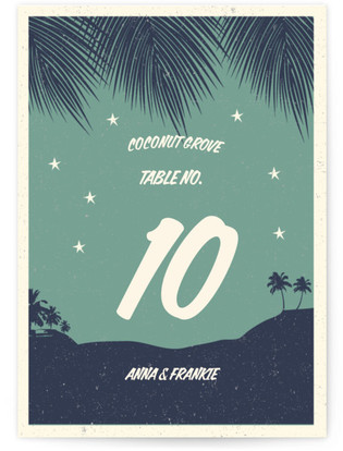 Retro Hawaii Table Numbers