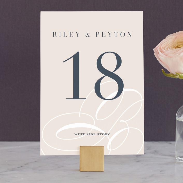 """""""Fresh Monogram"""" - Modern Wedding Table Numbers in Latte by Lauren Chism."""